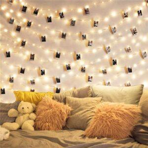 2m/5m/10m תמונה קליפ מחרוזת אורות Led Usb חיצוני סוללה מופעל זר עם אטבי כביסה עבור עיצוב הבית מחרוזת אורות